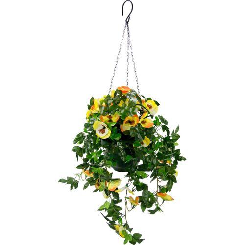 I.GE.A. Kunstpflanze »Stiefmütterchenhängeampel« Stiefmütterchenhängeampel, , Höhe 64 cm