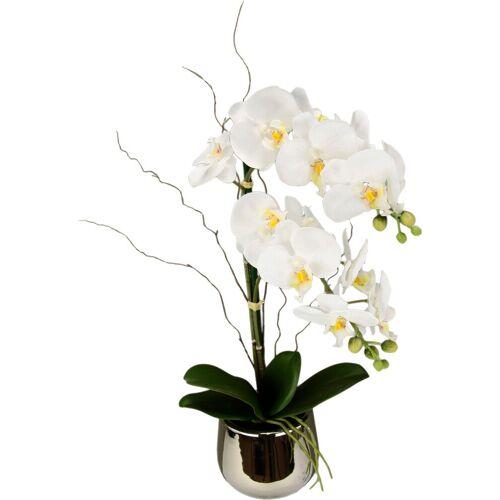 Kunstpflanze »Phalaenopsis im Topf« Phalaenopsis, Höhe 45 cm, weiß