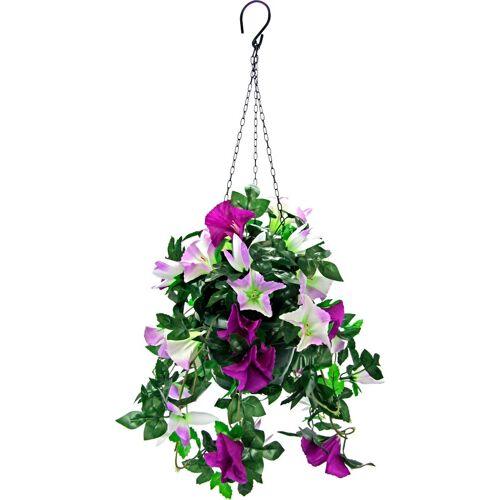 Kunstpflanze »Hängeampel Petunien« Petunien, Höhe 50 cm