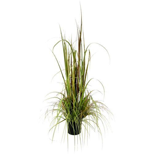 Kunstpflanze »Gras im Topf«, Höhe 150 cm, bunt