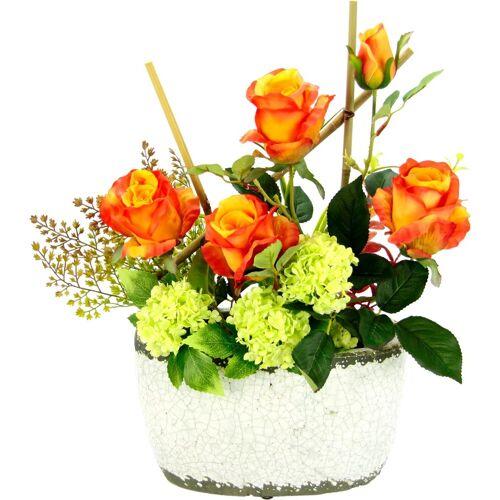 Kunstpflanze »Rosen/Schneeball« Rosen/Schneeball, Höhe 50 cm