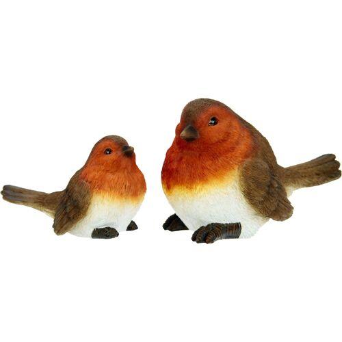 Dekofigur, Polyresin-Vögel (2er Set)