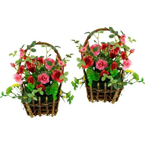 Kunstpflanze, Höhe 30 cm, rosa