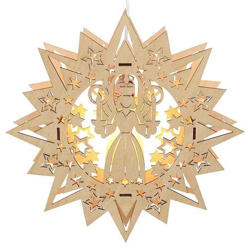 SIGRO Fensterbild »Holz Fensterbildstern Engel« (1 Stück)