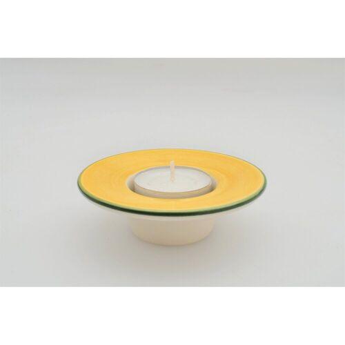Zeller Keramik Teelichthalter »Teelichthalter mit weißem Teelicht Kornfeld«