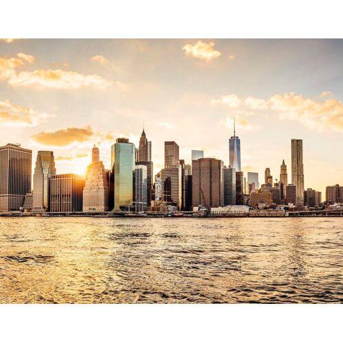 living walls Fototapete »New York City Manhattan Skyline«, glatt, Vlies