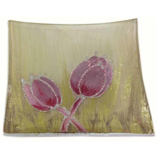 HTI-Living Dekoteller »Dekoteller Tulpe Rosa«