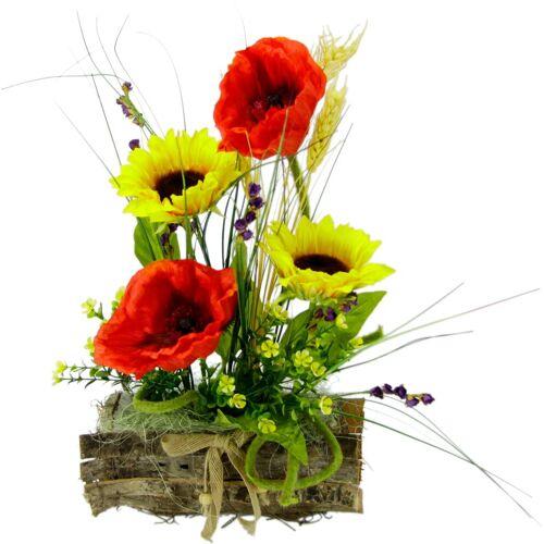 I.GE.A. Kunstpflanze Sonnenblume/Mohn, , Höhe 30 cm