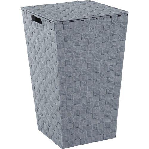Home affaire Wäschekorb, aus Nylon und Metall, grau