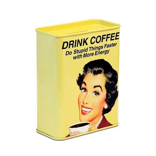 LOGOSHIRT Spardose mit lustigem Kaffee-Motiv, farbig