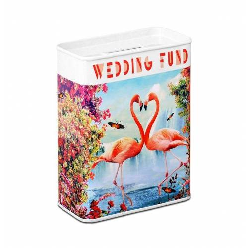 LOGOSHIRT Spardose mit Flamingo-Motiv, farbig