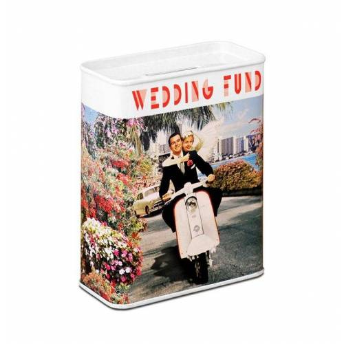 LOGOSHIRT Spardose mit Hochzeits-Motiv, farbig