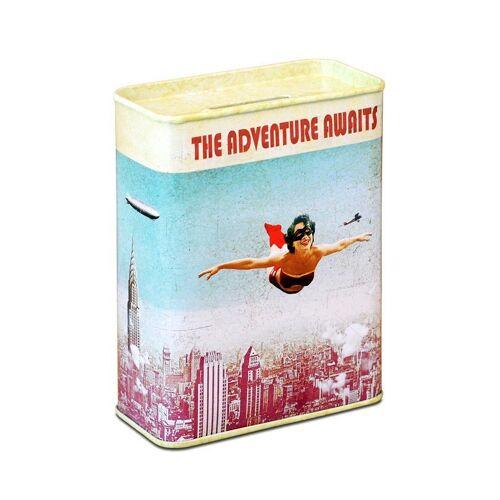 LOGOSHIRT Spardose im Vintage Superhelden-Design, farbig