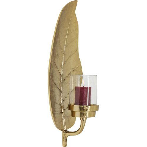 KARE Kerzenständer »Kerzenhalter Leaf Gold«