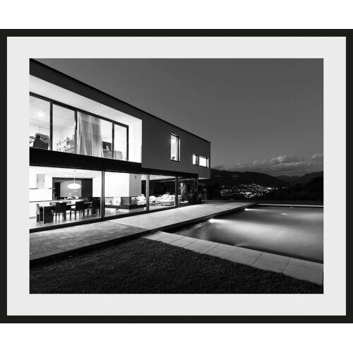 Places of Style Bild »Villa mit Pool«, mit Rahmen