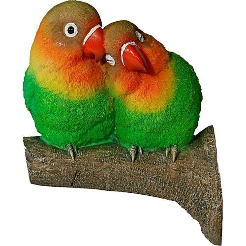 Home affaire Tierfigur, Tierfigur Papageienpärchen auf Ast (Baumbefestigung)