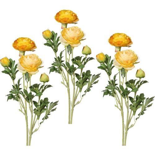 Creativ green Kunstblume Kunstblume, , Höhe 40 cm, Höhe 40 cm (6er Set), gelb