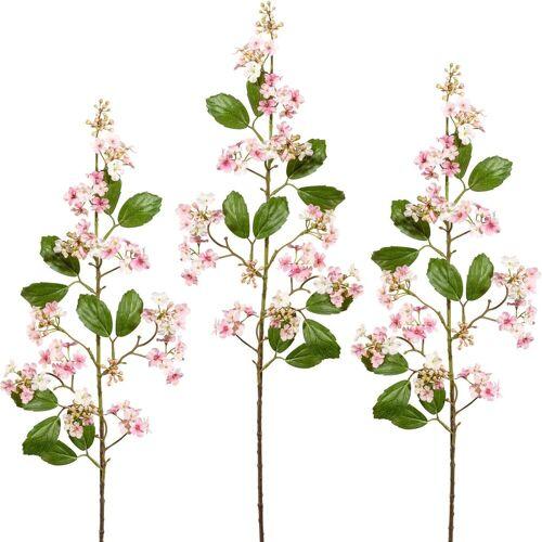 Creativ green Kunstblume Kunstblume, , Höhe 87 cm, Höhe 87 cm (3er Set), rosa