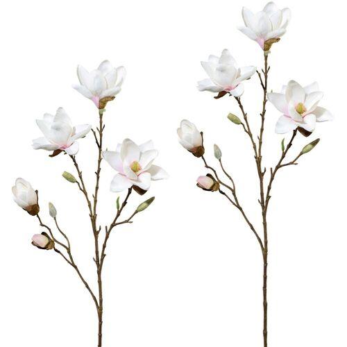 Kunstblume Magnolie, Höhe 79 cm (2er Set), rosa