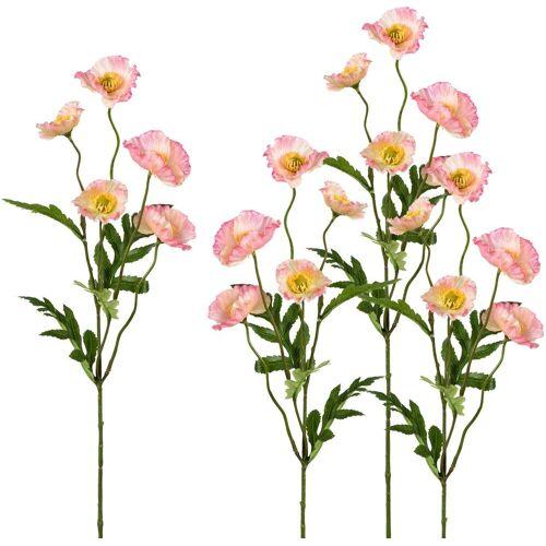 Creativ green Kunstblume Kunstblume, , Höhe 63 cm, Höhe 63 cm (4er Set), rosa