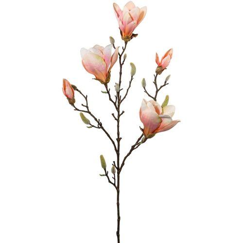 Kunstblume Magnolie, Höhe 101 cm (2er Set), orange
