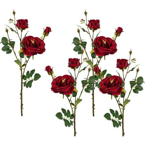 Creativ green Kunstblume Kunstblume, , Höhe 63 cm, Höhe 63 cm (4er Set), rot