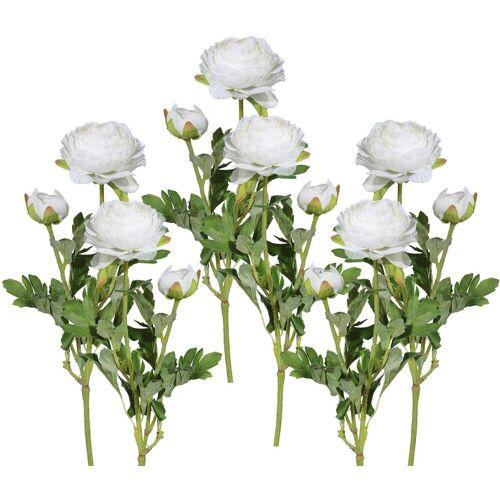 Kunstblume Ranunkel, Höhe 40 cm (6er Set), weiß