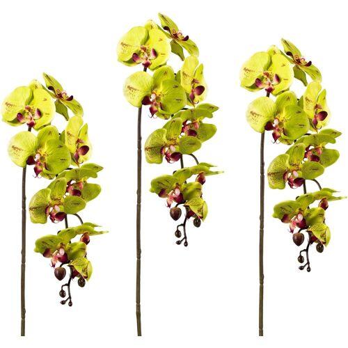 Kunstblume, Höhe 98 cm (3er Set), grün