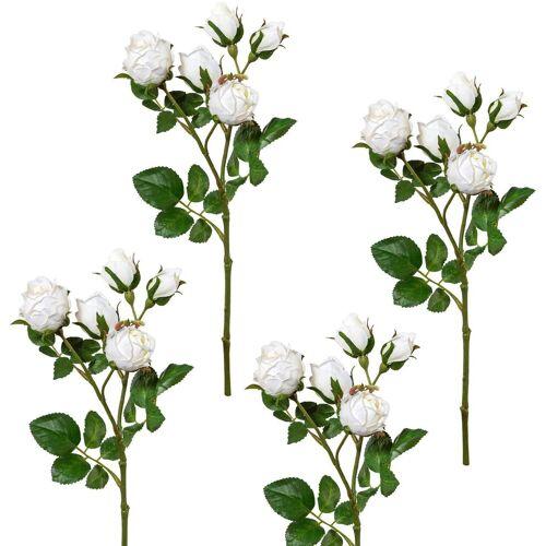 Creativ green Kunstblume Kunstblume, , Höhe 39 cm, Höhe 39 cm (4er Set), weiß