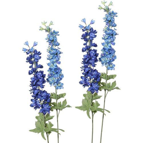 Kunstblume Rittersporn, Höhe 89 cm (4er Set), blau