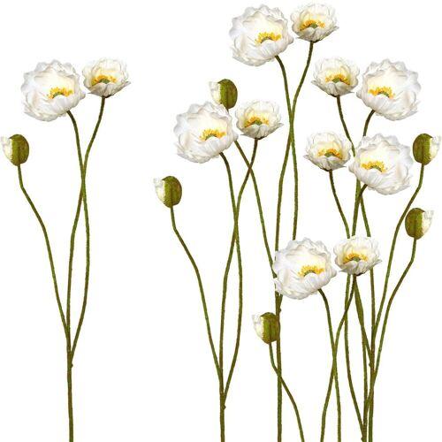 Creativ green Kunstblume Kunstblume, , Höhe 76 cm, Höhe 76 cm (6er Set), weiß