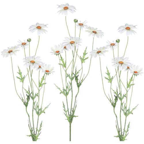 Kunstblume Margeritte, Höhe 92 cm (3er Set), weiß