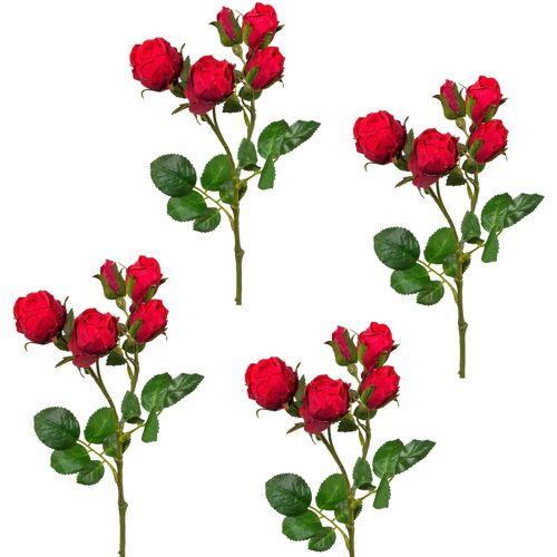 Creativ green Kunstblume Kunstblume, , Höhe 39 cm, Höhe 39 cm (4er Set), rot
