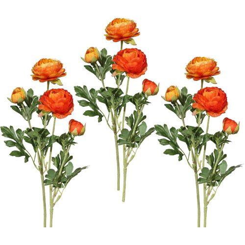 Kunstblume Ranunkel, Höhe 40 cm (6er Set), orange