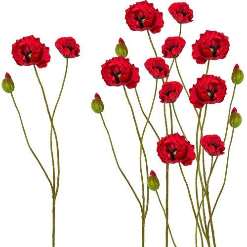 Creativ green Kunstblume Kunstblume, , Höhe 76 cm, Höhe 76 cm (6er Set), rot