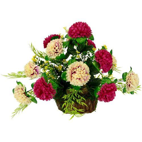 I.GE.A. Kunstpflanze Chrysanthemen, , Höhe 32 cm, Arrangement im Topf