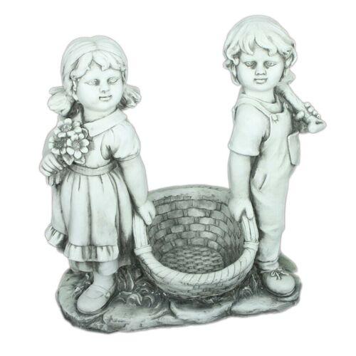 HTI-Living Gartenfigur »Junge und Mädchen«, Stein-Optik