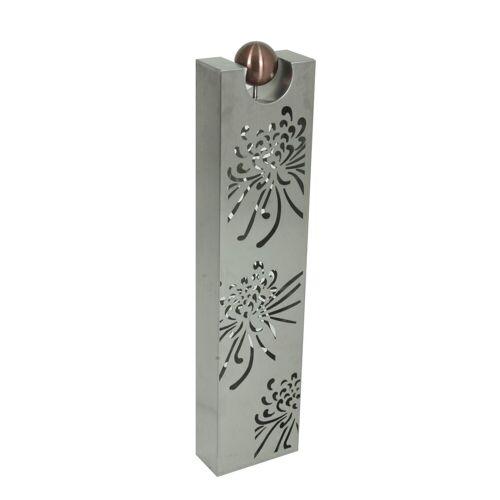 HTI-Living Dekosäule »Blumengesteck«, Silber