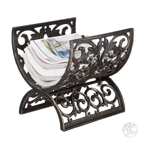 relaxdays Zeitungsständer »Zeitungsständer Antik«, Bronze