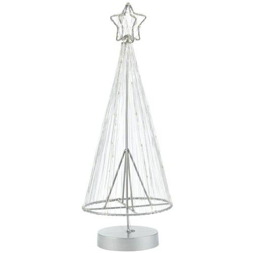 LED Baum, Batteriebetrieb, Höhe 40 cm, weiß