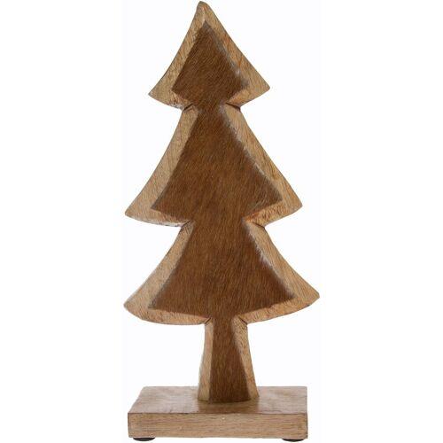 Dekobaum »aus Holz, mit Fell-Dekoration«
