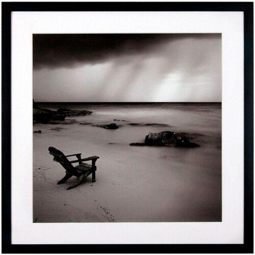 G&C Kunstdruck »Levy: Beach Motiv 2«, 50/50 cm, gerahmt