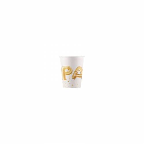 Procos Partybecher Gold Party 200 ml, 8 Stück