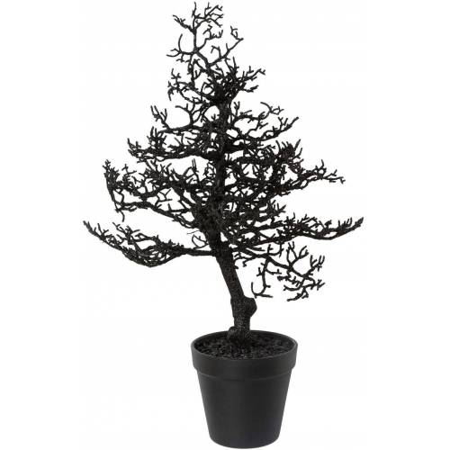 Kunstbaum »Hainbuche«, Höhe 44 cm, mit Glitter, schwarz
