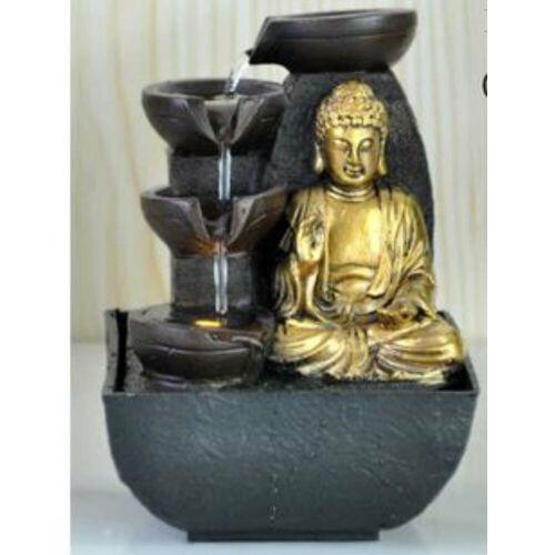HTI-Living Zimmerbrunnen Buddha, Schwarz, Gold