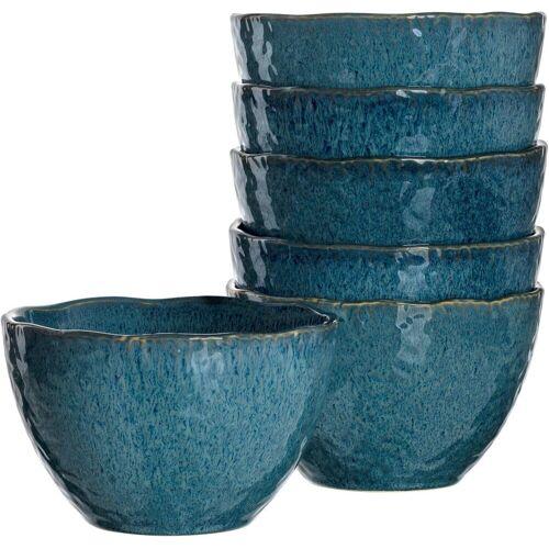 LEONARDO Dessertschale »Matera«, Keramik, (Set, 6-tlg), blau