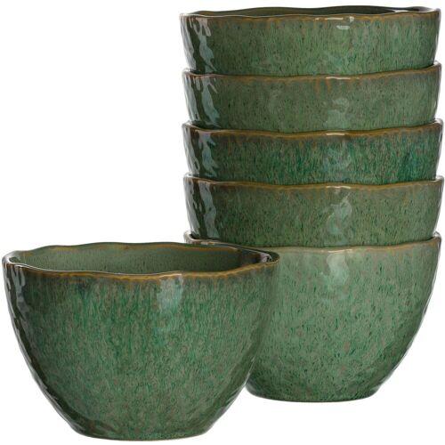 LEONARDO Dessertschale »Matera«, Keramik, (Set, 6-tlg), grün
