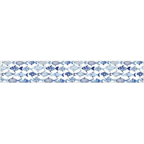 MySpotti Fensterfolie »look Shoal«, 200 x 30 cm, statisch haftend, blau/weiß