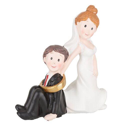 """Hochzeitspaar """"mit Ring"""" 7,5 x 8 cm"""