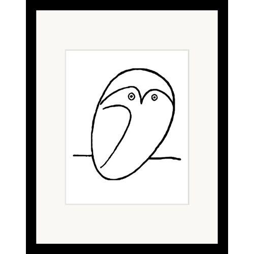 G&C Bild »Picasso: Chouette«, mit Rahmen, 35/45 cm